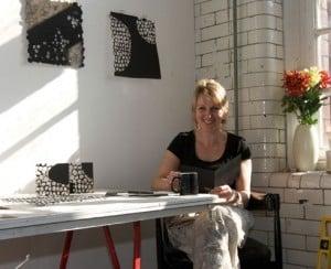 Artist Jenny  Smith in Studio