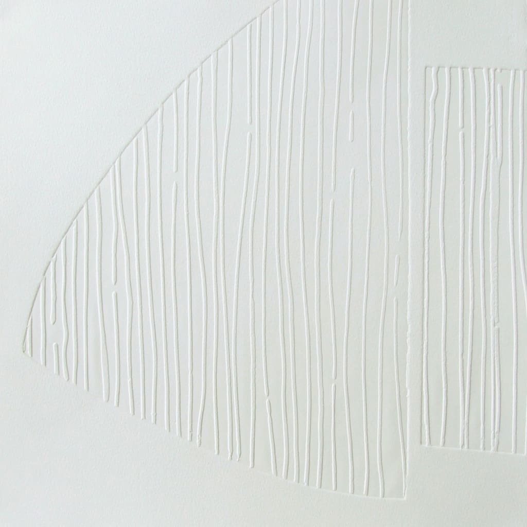 Imprint lines I, blind embossed saunders waterford paper, 52 x 52cm, limited edition of 6, signed on reverse.