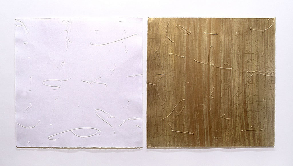 Sunscript, Embossed lithograph, Dyptich, 140 x 56 cm, Limited edition of 16, printed as Co-edition with EPW (2001) The Japanese Suite