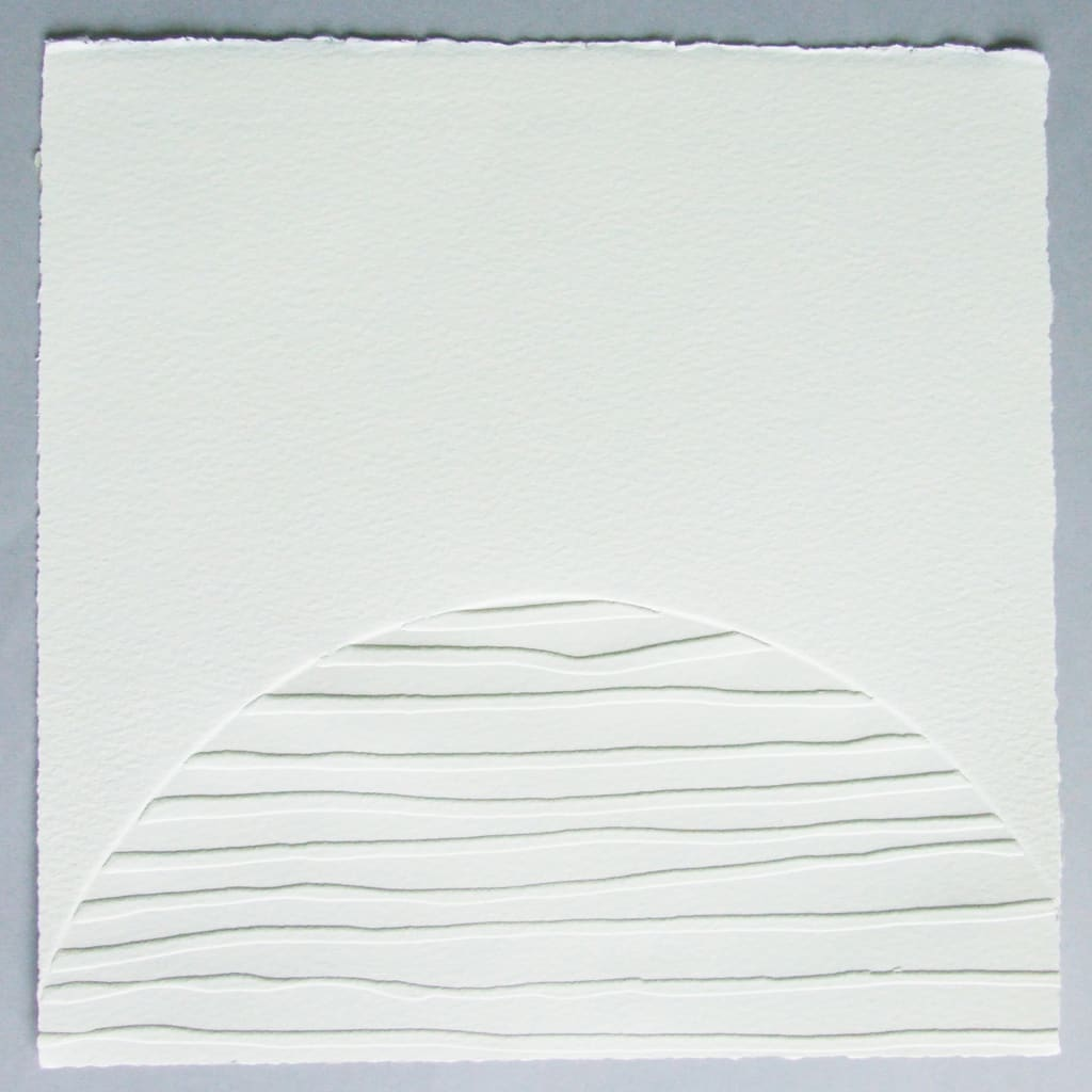 Imprint V, 26 x 26 cm, blind emboss, limited edition of 6, signed and numbered on reverse