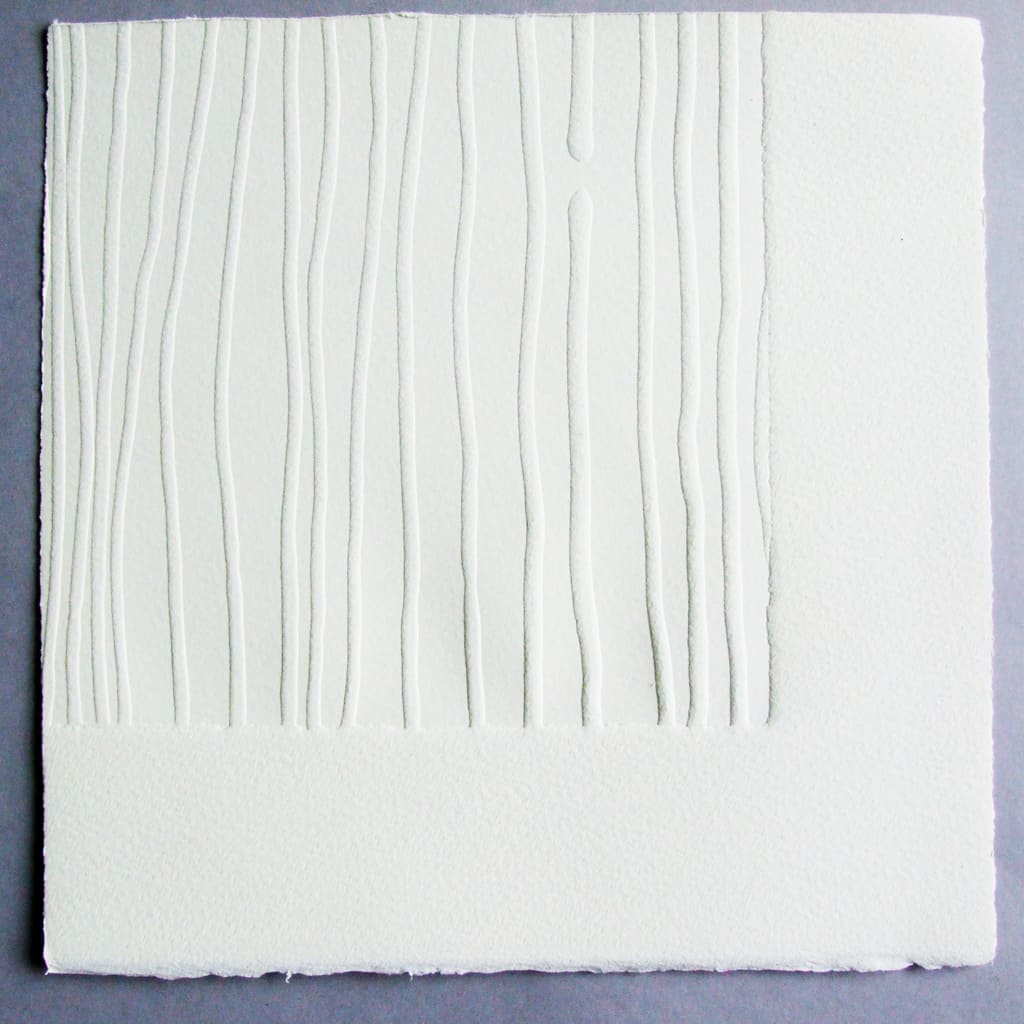 Imprint, 26 x 26 cm, blind emboss, limited edition of 6, signed and numbered on reverse