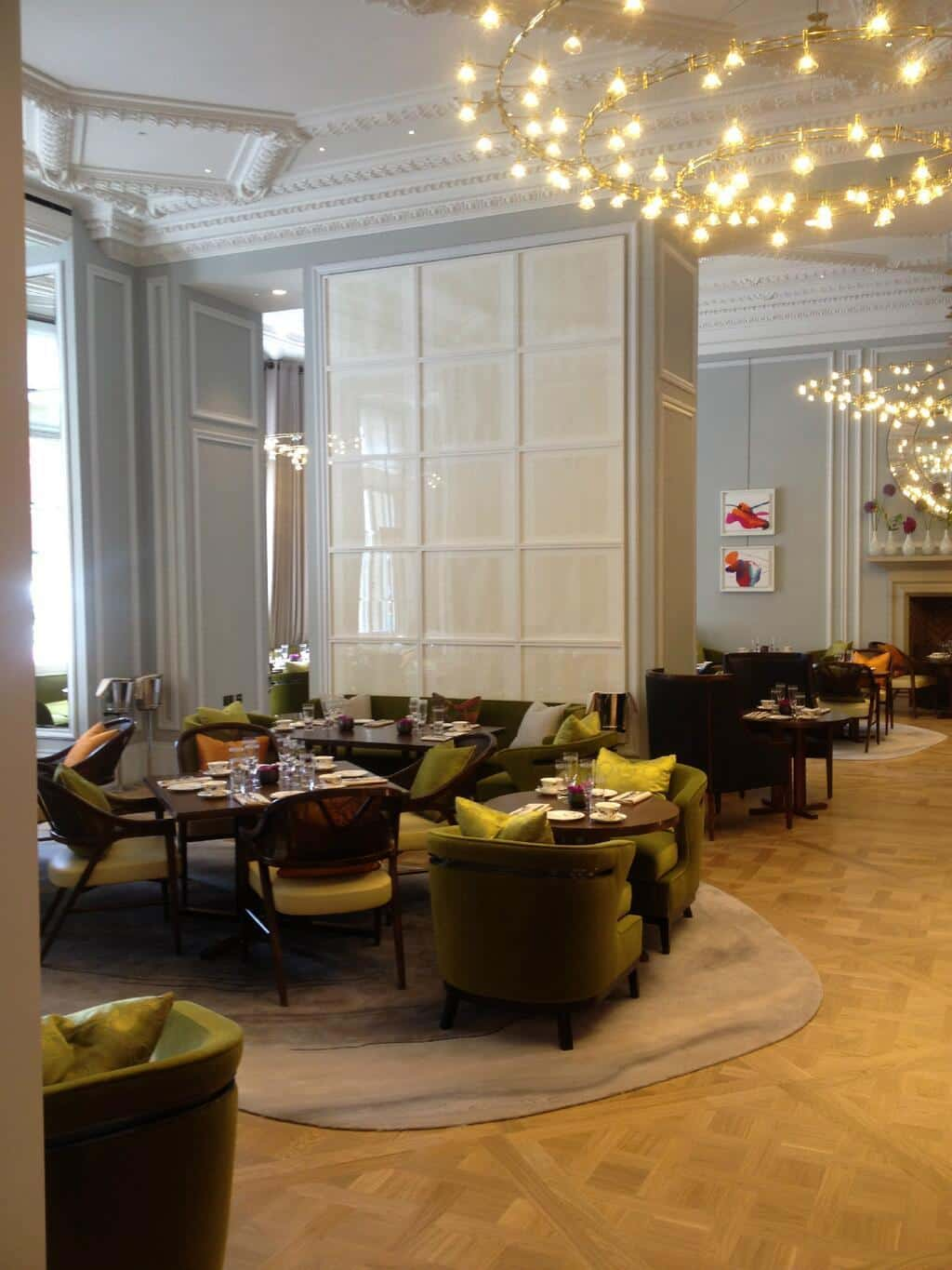 Roseberry Room , Mandarin Oriental, Knightsbridge, London, 30 white, blind embossed paper prints 52 x 52 cm (unframed size)