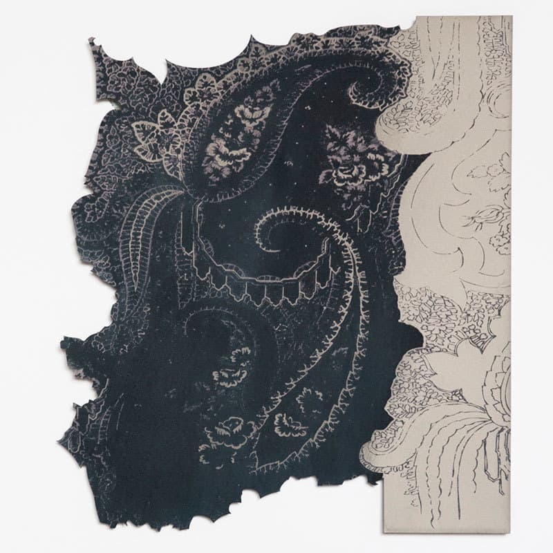 Study for Paisley Drawing I, Laser cut screen print, 38 x 38cm limited edition 12, signed and numbered on reverse