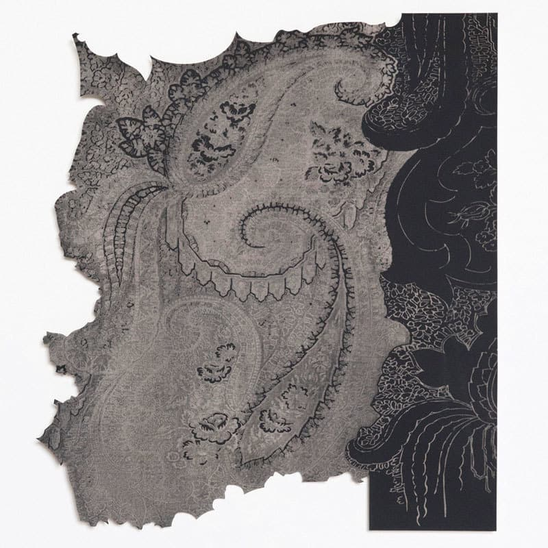 Study for Paisley Drawing II, Laser cut screen print, 38 x 38cm limited edition 12, signed and numbered on reverse