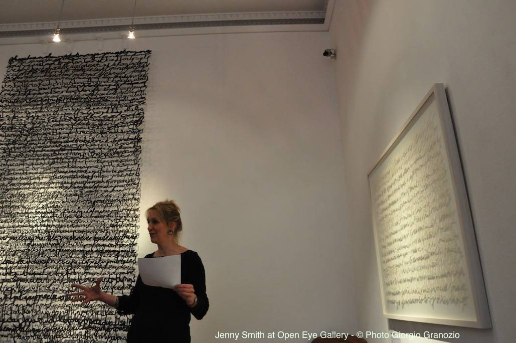 Jenny Smith on youtube talking about Shadow Drawing Solo Exhibition at Open Eye Gallery